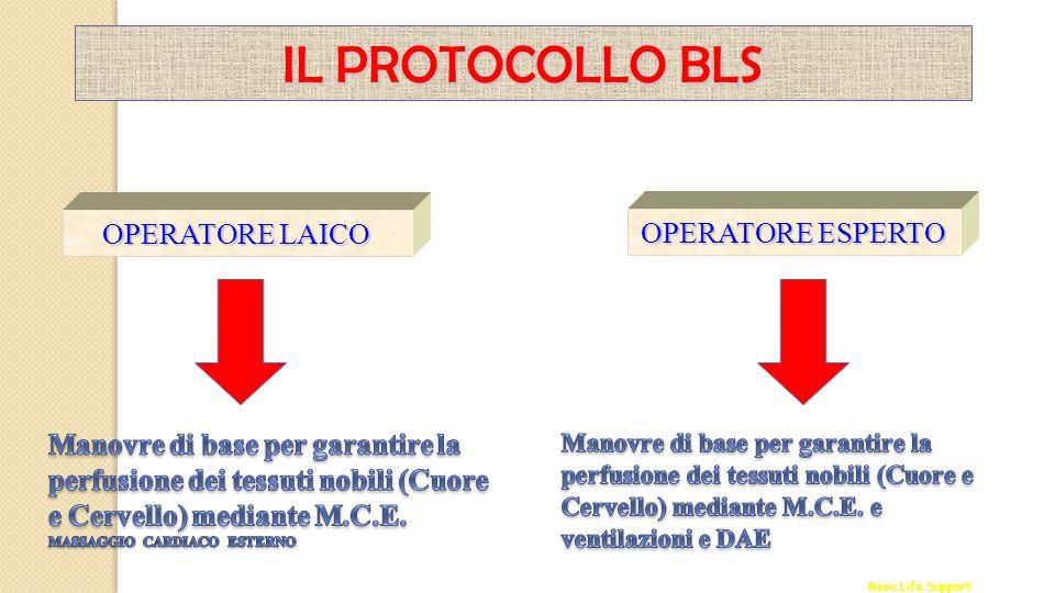 Basic Life Support IL PROTOCOLLO BLS OPERATORE LAICO OPERATORE ESPERTO