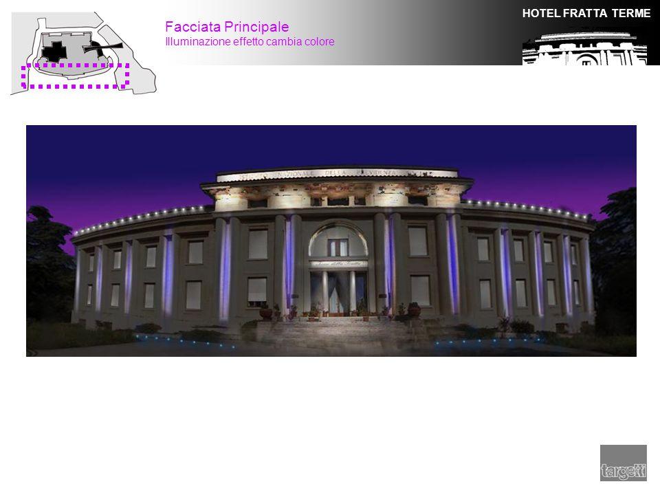 HOTEL FRATTA TERME Facciata Principale Illuminazione effetto cambia colore