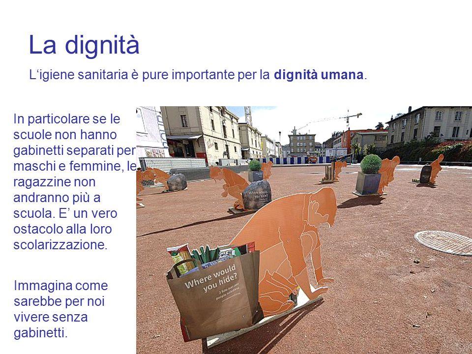 15 La dignità L'igiene sanitaria è pure importante per la dignità umana.