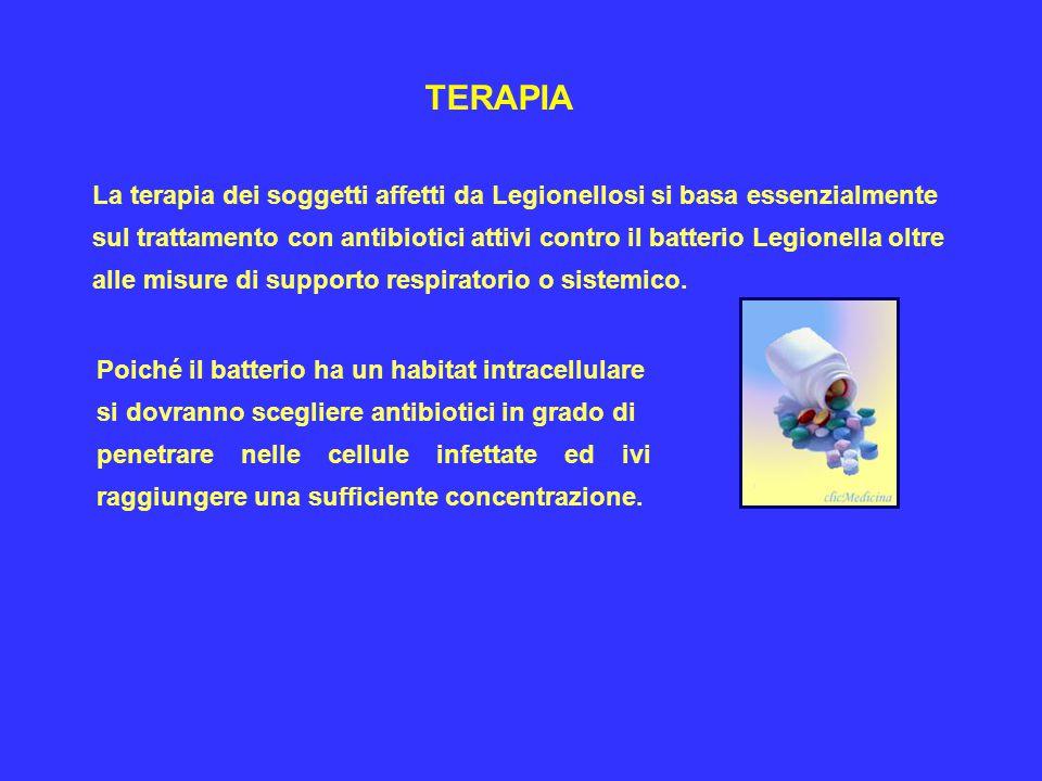 L'eritromicina è stato il farmaco più impiegato nella cura della Legionellosi.