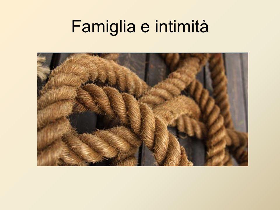 Famiglia e intimità
