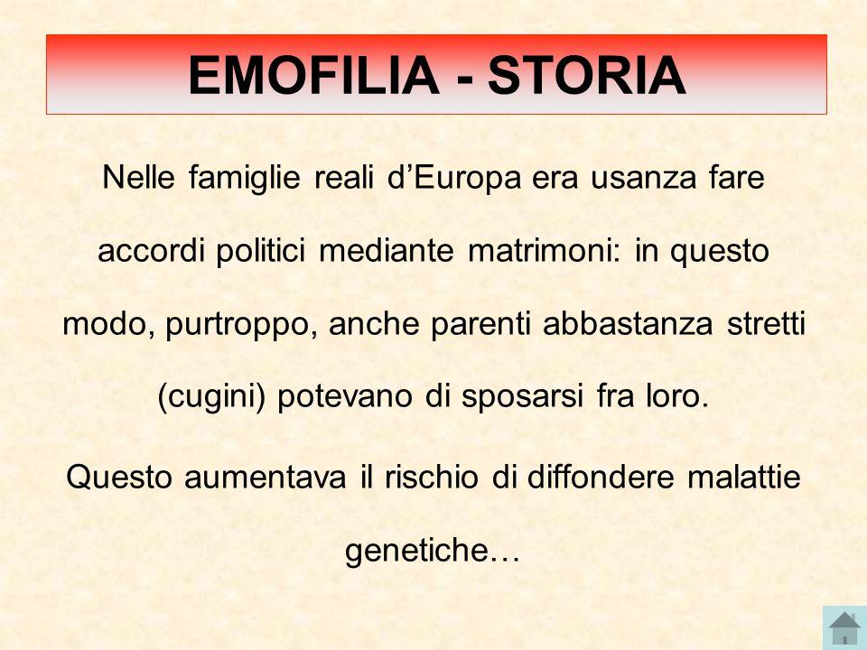 Nelle famiglie reali d'Europa era usanza fare accordi politici mediante matrimoni: in questo modo, purtroppo, anche parenti abbastanza stretti (cugini