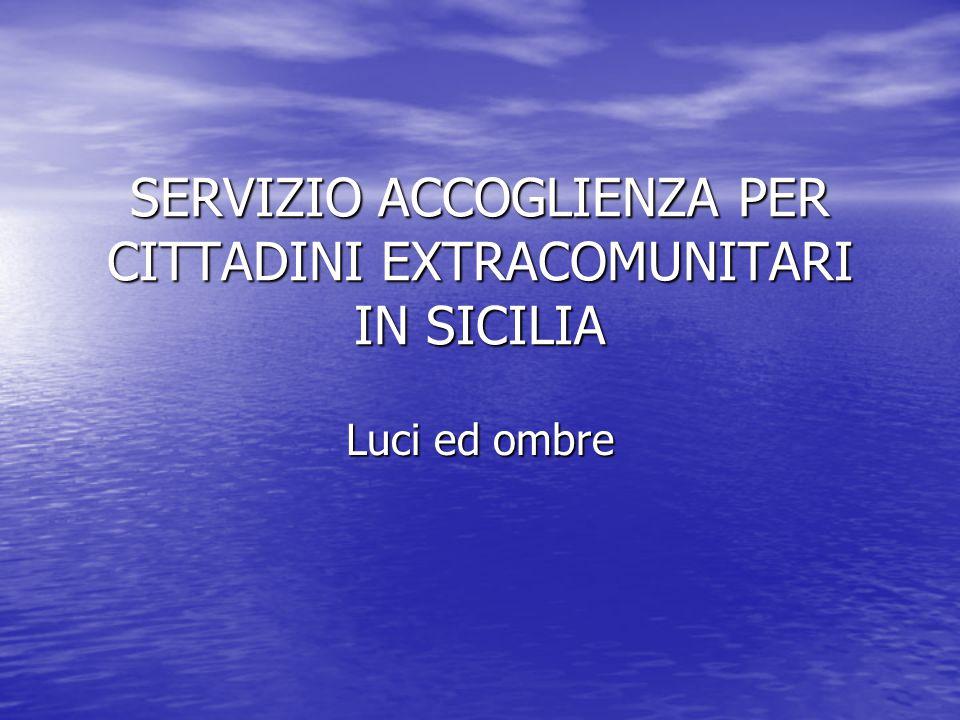 SERVIZIO ACCOGLIENZA PER CITTADINI EXTRACOMUNITARI IN SICILIA Luci ed ombre