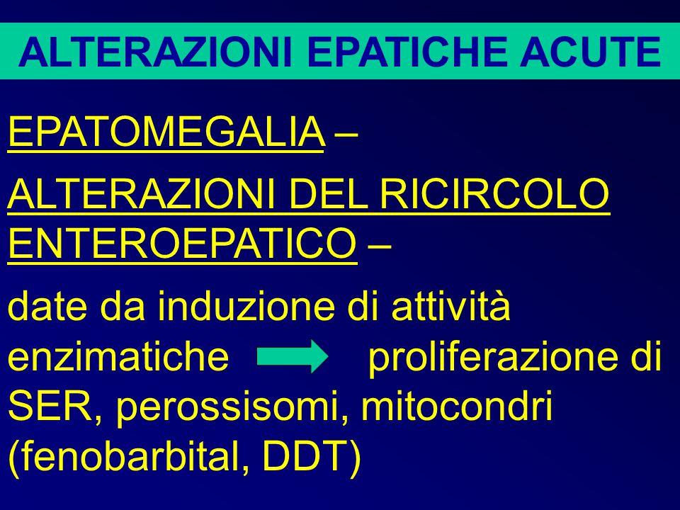 ALTERAZIONI COLESTATICHE Si suddividono in extraepatiche e intraepatiche.