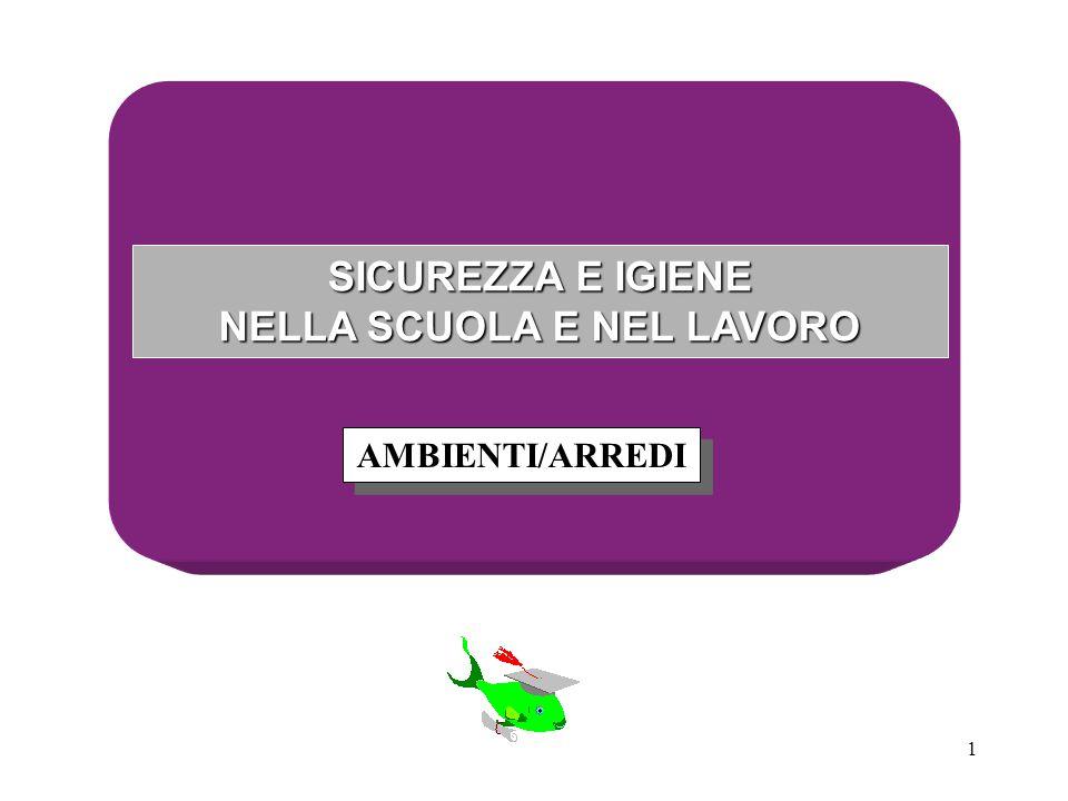 1 SICUREZZA E IGIENE NELLA SCUOLA E NEL LAVORO AMBIENTI/ARREDI