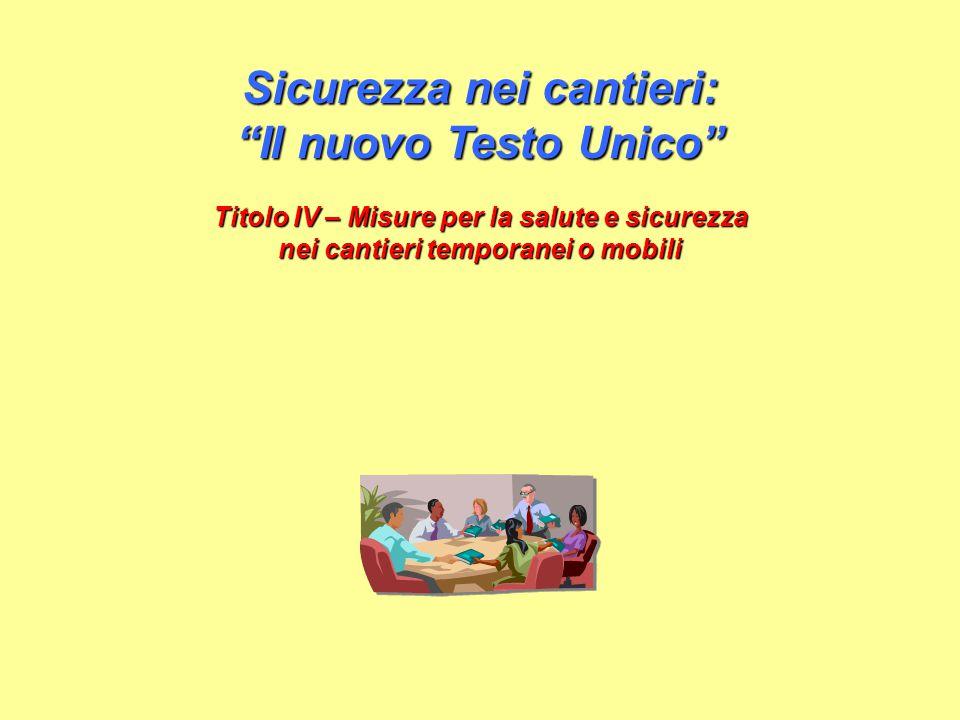Alfonso Massaro - Sicurezza nei cantieri: Il nuovo testo unico - Titolo IV 2 Il testo contenuto nelle seguenti slide è tratto da documenti in formato elettronico che sono stati distribuiti in rete.