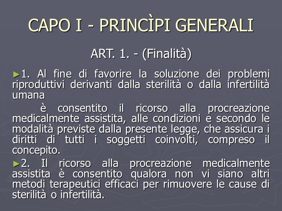 CAPO I - PRINCÌPI GENERALI ► 1.