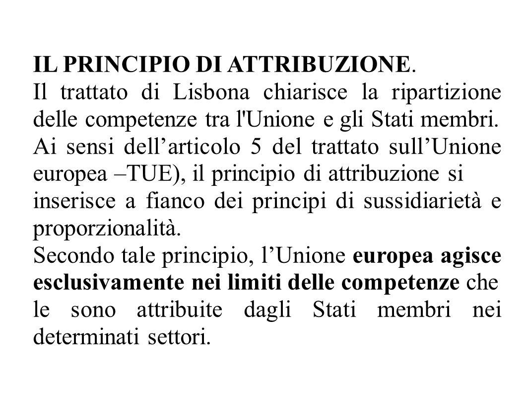 IL PRINCIPIO DI ATTRIBUZIONE.