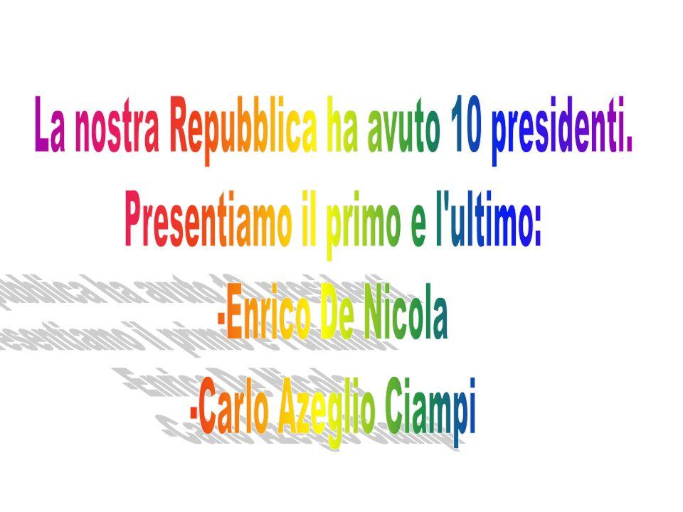 Il 22 dicembre 1947 la Costituzione della Repubblica fu approvata dall'Assemblea Costituente con 453 voti a favori e 62 contrari. Il 1° gennaio 1948 f