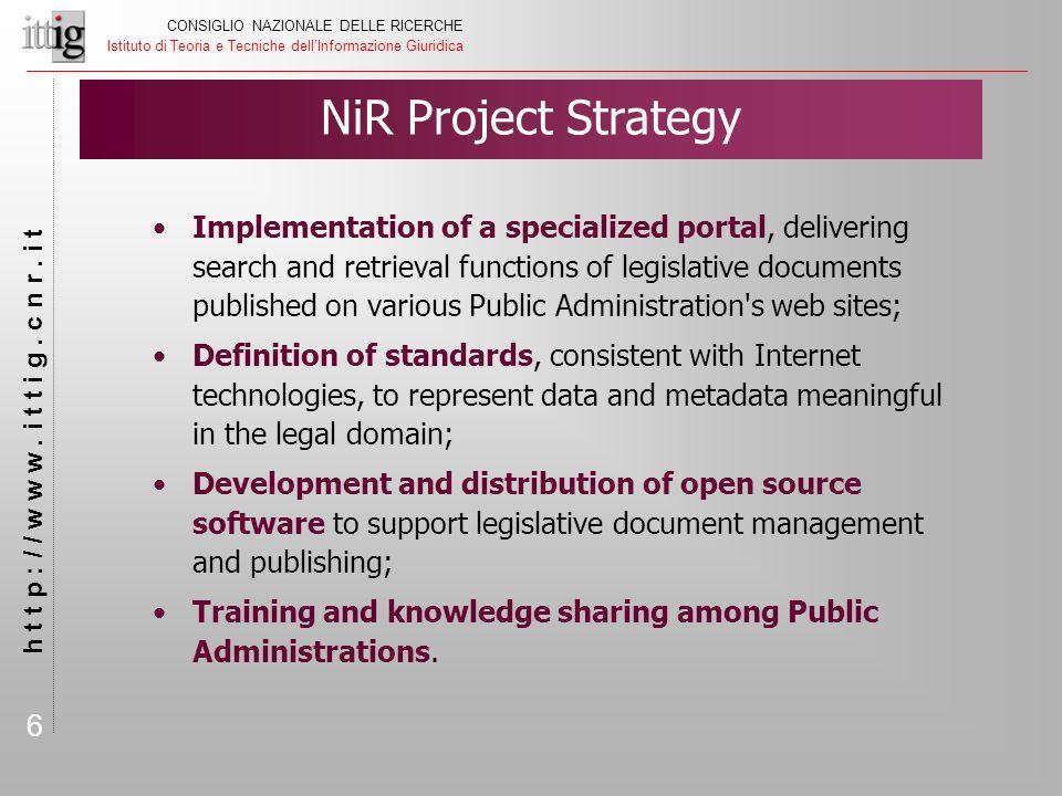 6 CONSIGLIO NAZIONALE DELLE RICERCHE Istituto di Teoria e Tecniche dell'Informazione Giuridica h t t p : / / w w w.
