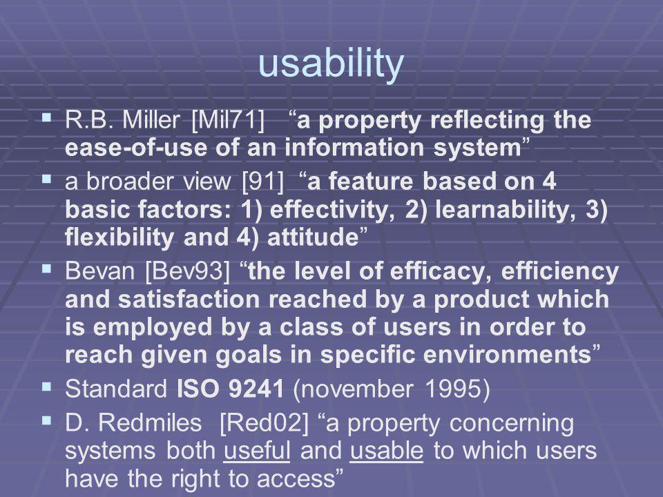 usability   R.B.