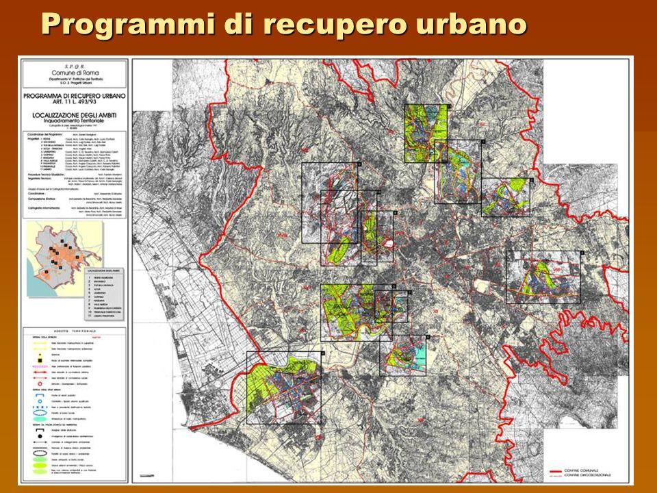 Programmi di recupero urbano