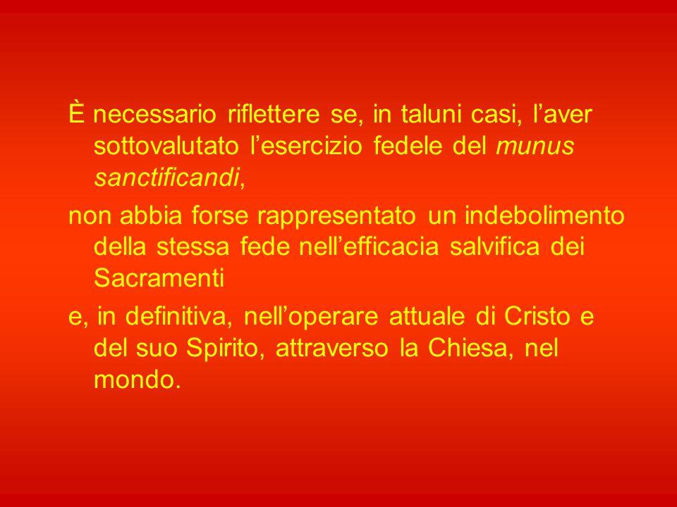 """E lo stesso vale per il ministro ordinato: egli, il sacerdote, rappresenta Cristo, l'Inviato del Padre, ne continua la sua missione, mediante la """"paro"""
