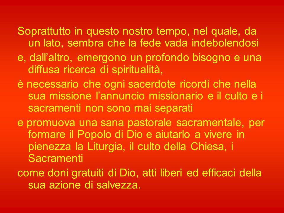 Nell'azione di Cristo mediante la Chiesa, in particolare nel Sacramento dell'Eucaristia, che rende presente l'offerta sacrificale redentrice del Figli