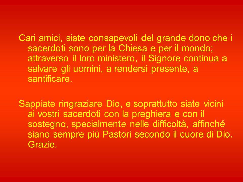 """Se """"la grande tradizione ecclesiale ha giustamente svincolato l'efficacia sacramentale dalla concreta situazione esistenziale del singolo sacerdote, e"""