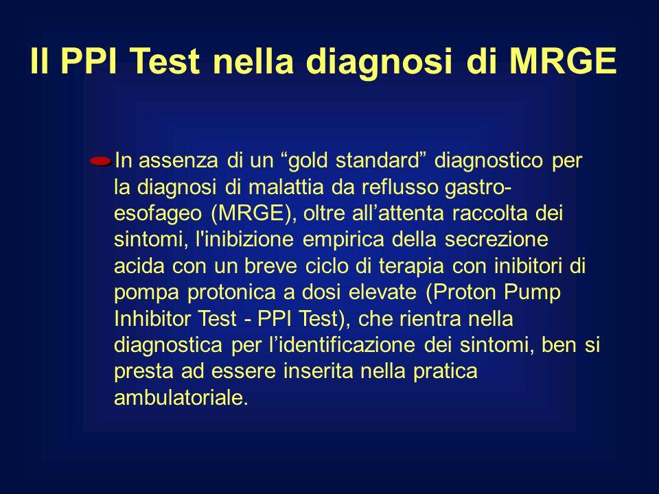 """Il PPI Test nella diagnosi di MRGE In assenza di un """"gold standard"""" diagnostico per la diagnosi di malattia da reflusso gastro- esofageo (MRGE), oltre"""