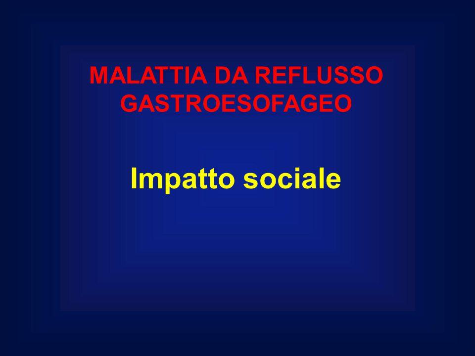MALATTIA DA REFLUSSO GASTROESOFAGEO Impatto sociale