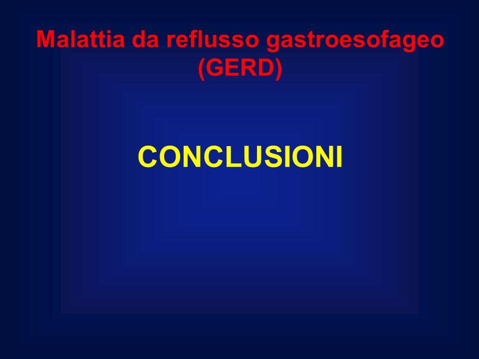 Malattia da reflusso gastroesofageo (GERD) CONCLUSIONI