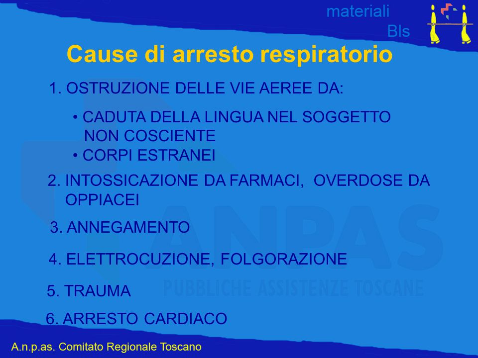 Cause di arresto respiratorio 1.