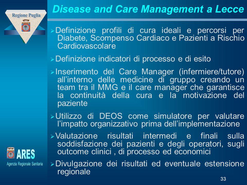 """Modello generato da prototipo di proprietà di """"Laboratori della Fondazione – Trend Sviluppo Holding"""" 33 Disease and Care Management a Lecce  Definizi"""