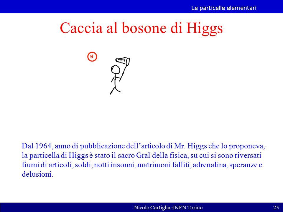 Le particelle elementari Nicolo Cartiglia -INFN Torino25 Caccia al bosone di Higgs Dal 1964, anno di pubblicazione dell'articolo di Mr.