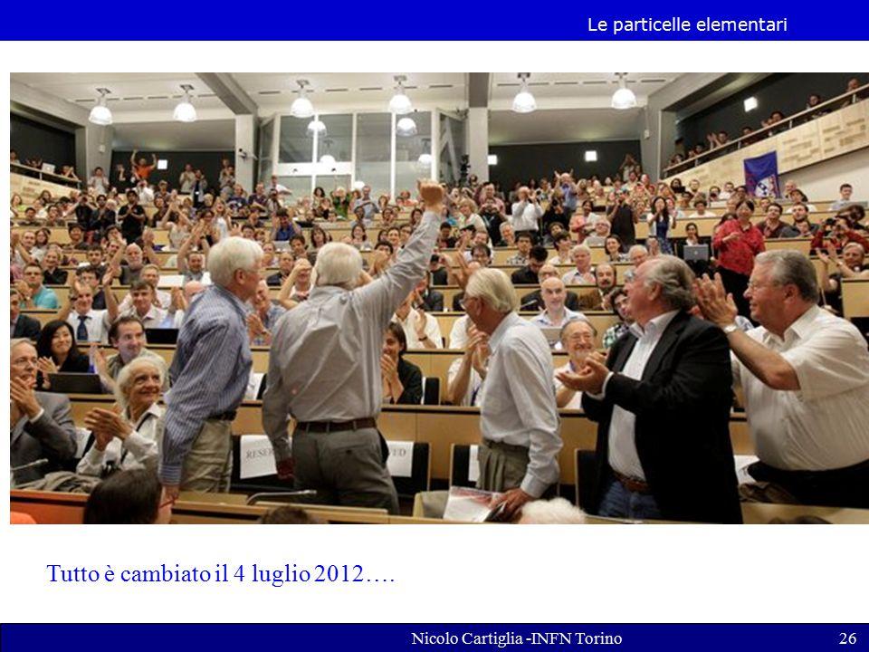 Le particelle elementari Nicolo Cartiglia -INFN Torino26 Tutto è cambiato il 4 luglio 2012….