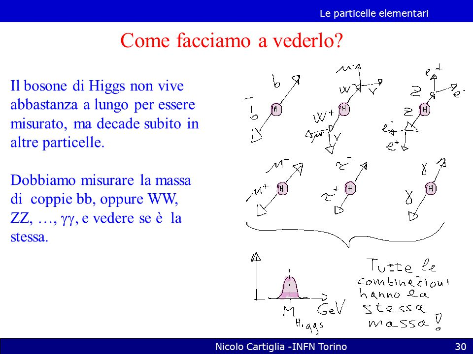 Le particelle elementari Nicolo Cartiglia -INFN Torino30 Come facciamo a vederlo.