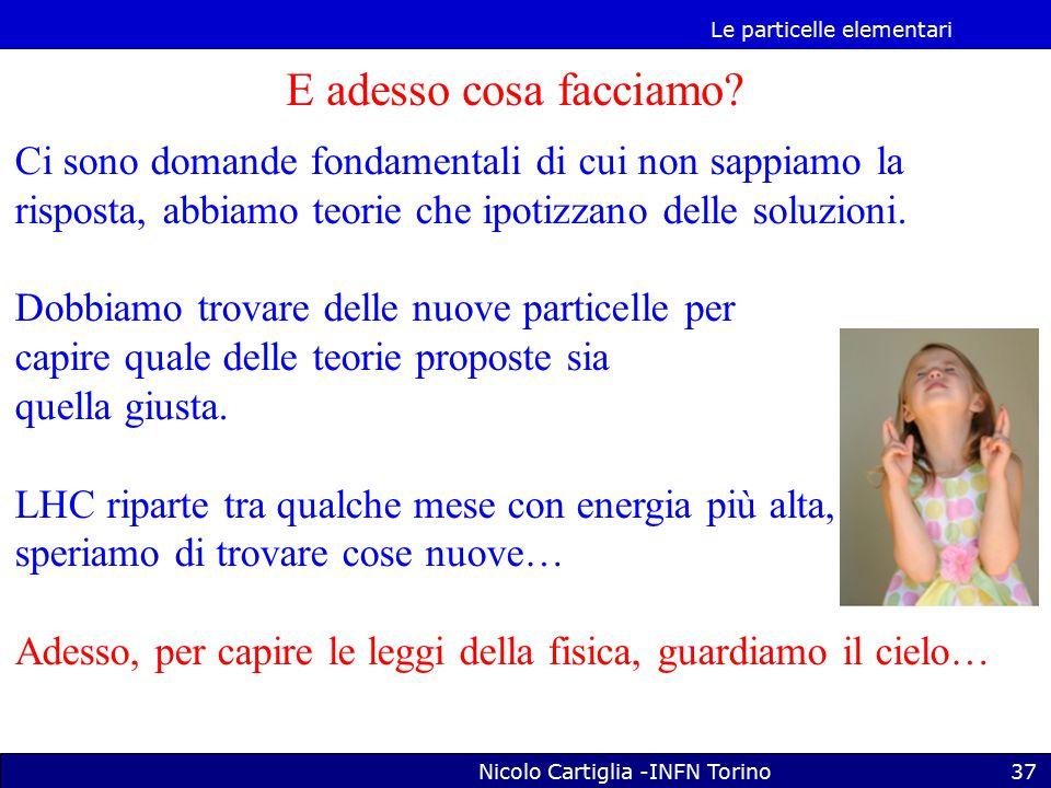 Le particelle elementari Nicolo Cartiglia -INFN Torino37 E adesso cosa facciamo.