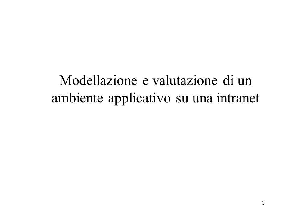 1 Modellazione e valutazione di un ambiente applicativo su una intranet