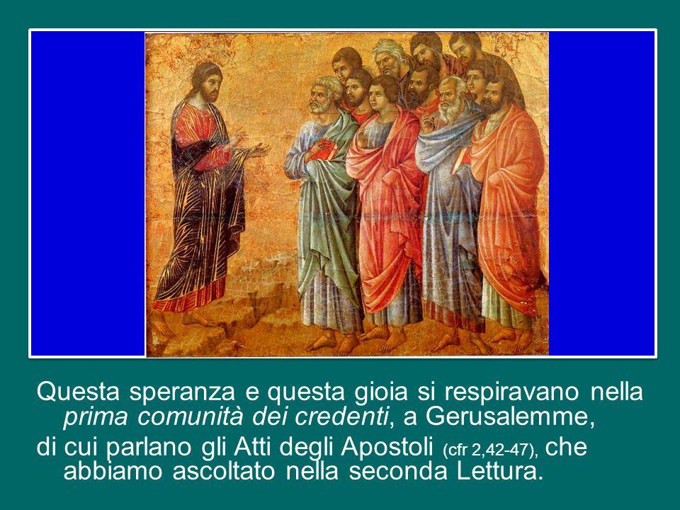 Queste sono la speranza e la gioia che i due santi Papi hanno ricevuto in dono dal Signore risorto e a loro volta hanno donato in abbondanza al Popolo di Dio, ricevendone eterna riconoscenza.