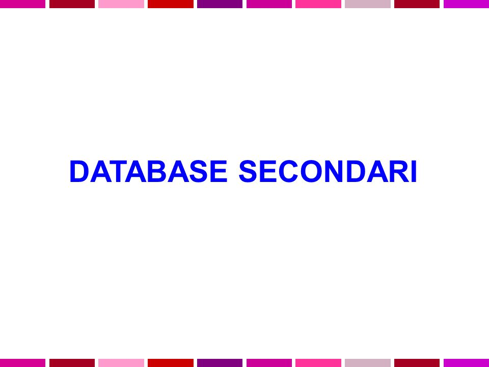 DATABASE SECONDARI