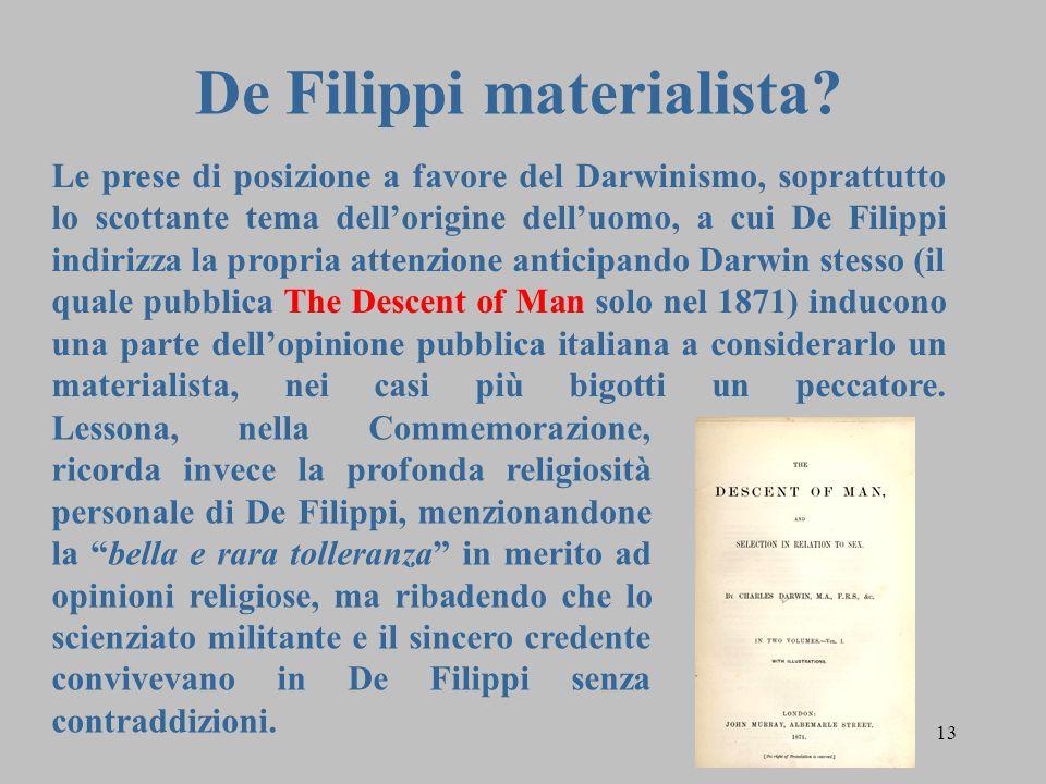13 De Filippi materialista.