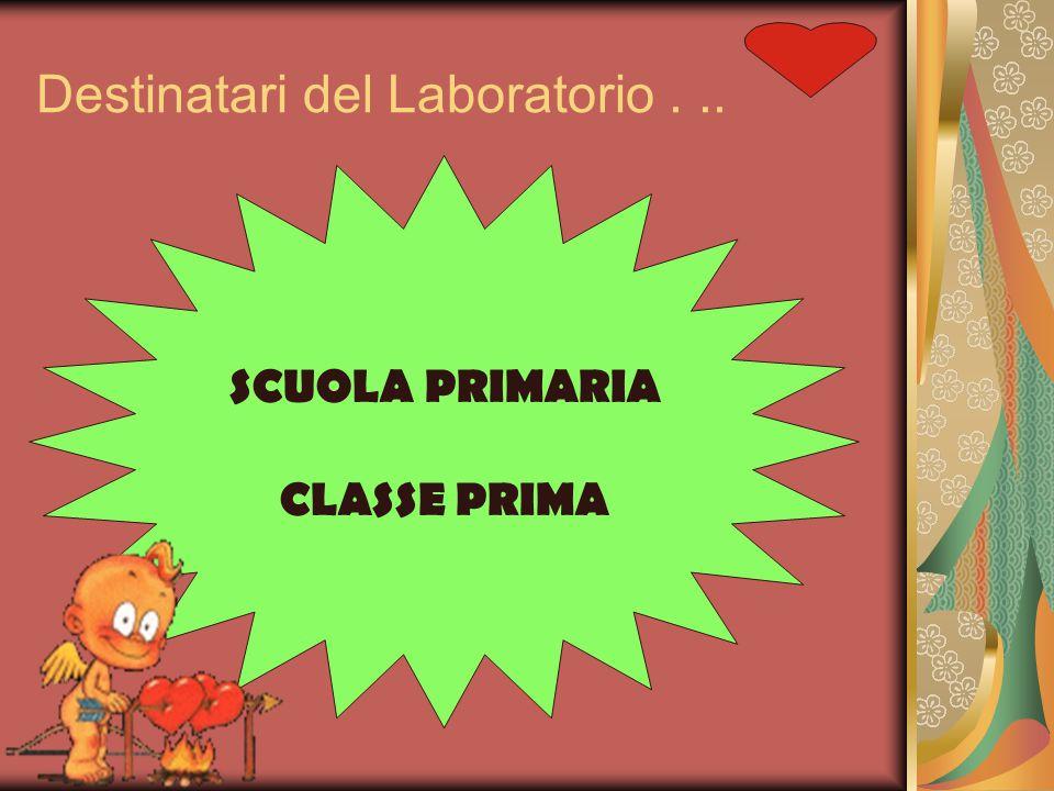Destinatari del Laboratorio... SCUOLA PRIMARIA CLASSE PRIMA