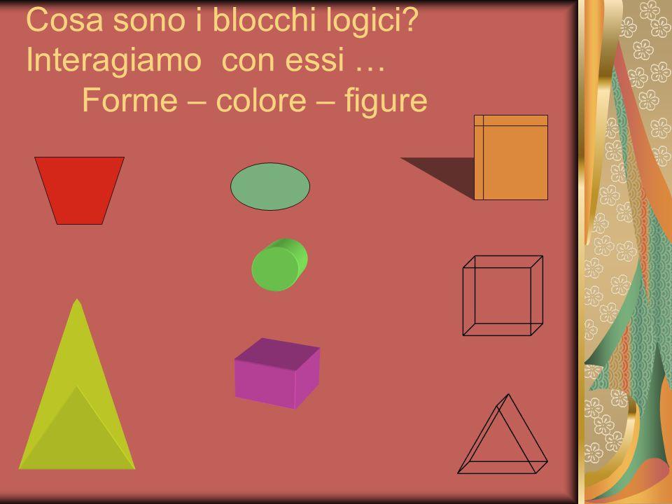 Cosa sono i blocchi logici? Interagiamo con essi … Forme – colore – figure
