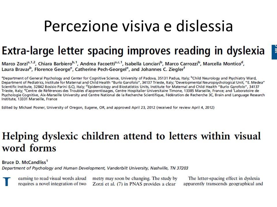 Percezione visiva e dislessia