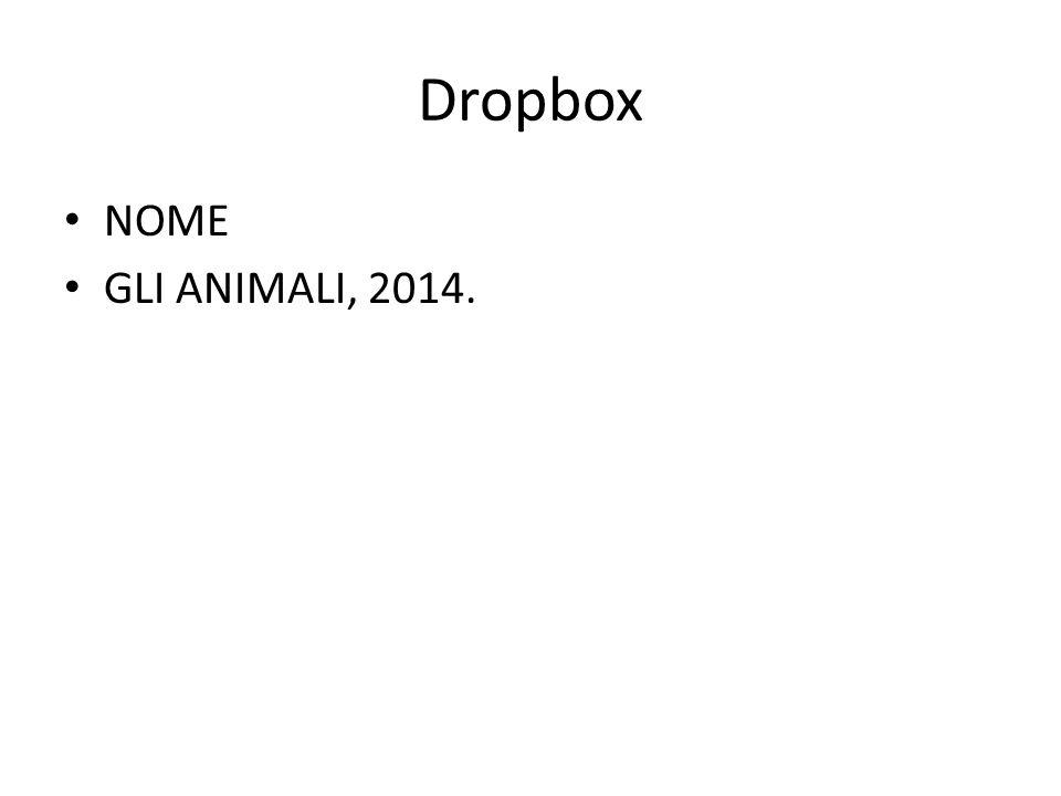 Dropbox NOME GLI ANIMALI, 2014.