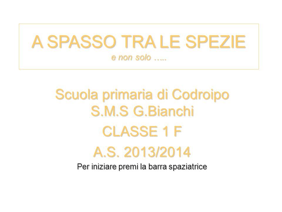 A SPASSO TRA LE SPEZIE e non solo …..Scuola primaria di Codroipo S.M.S G.Bianchi CLASSE 1 F A.S.