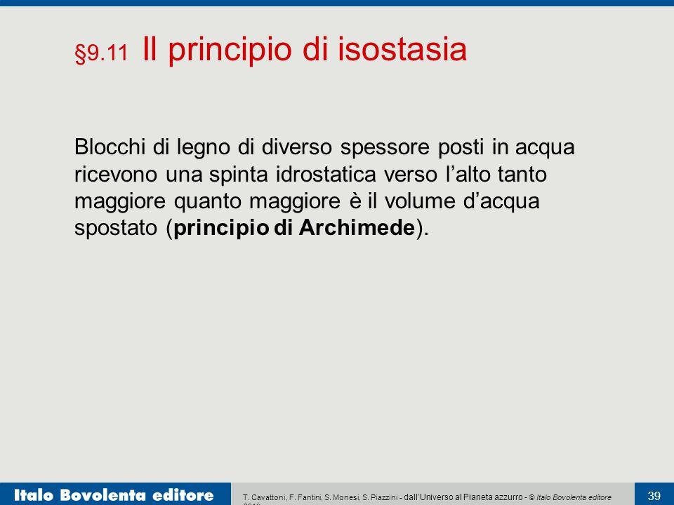 T. Cavattoni, F. Fantini, S. Monesi, S. Piazzini - dall'Universo al Pianeta azzurro - © Italo Bovolenta editore 2010 39 Blocchi di legno di diverso sp