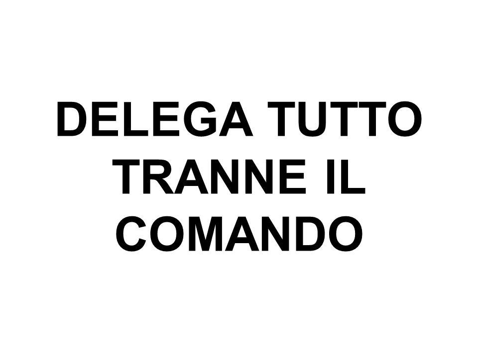 DELEGA TUTTO TRANNE IL COMANDO