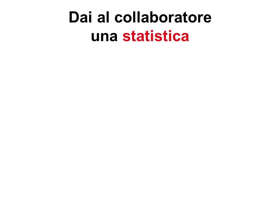 Dai al collaboratore una statistica