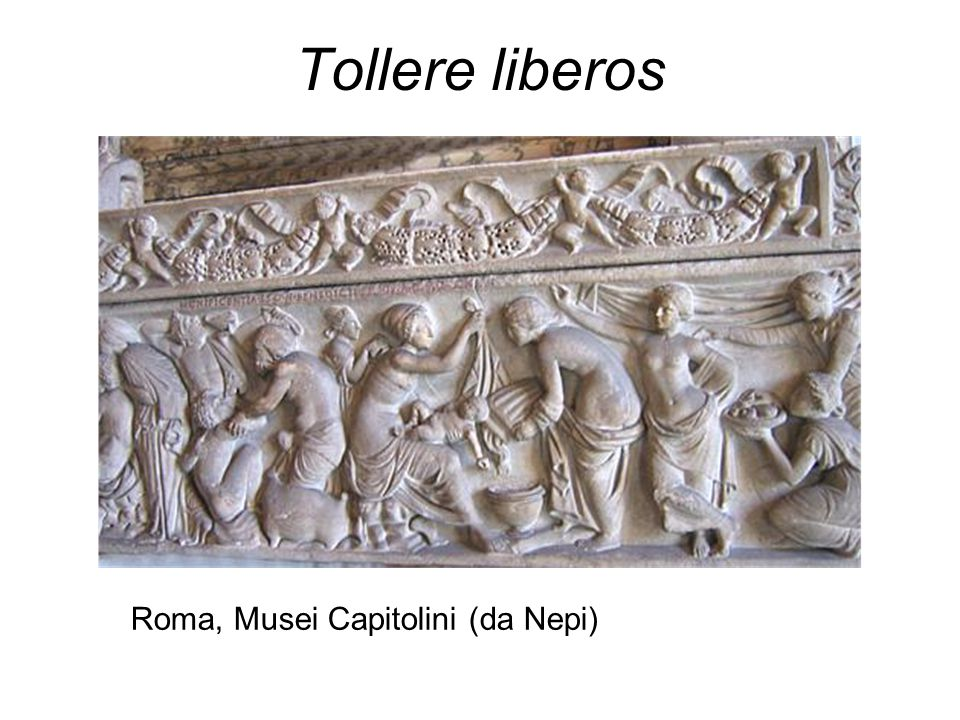 Plutarco, Questioni Romane, 101 Perché (i Romani) appendono ai colli dei loro figli amuleti che chiamano bullae.