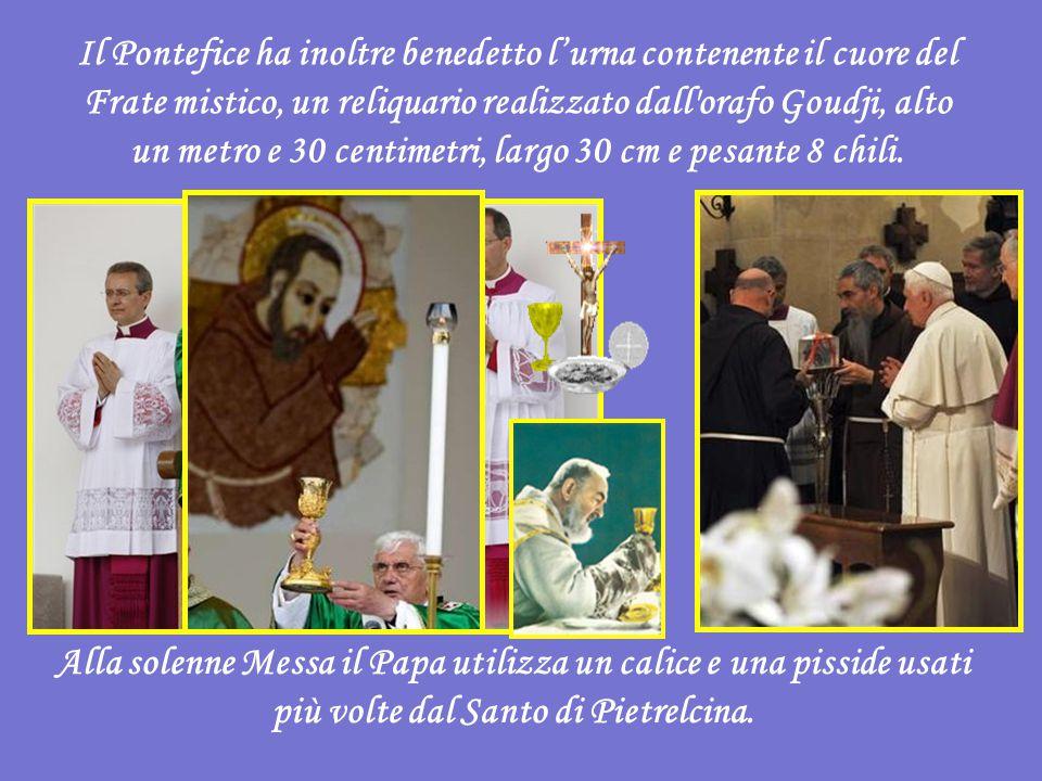 Quando vi accorgete che siete vicini a correre questo rischio - è l invito di Ratzinger - guardate Padre Pio: e invocate la sua intercessione, perché vi ottenga dal Signore la luce e la forza di cui avete bisogno per proseguire la sua stessa missione intrisa di amore per Dio e di carità fraterna .