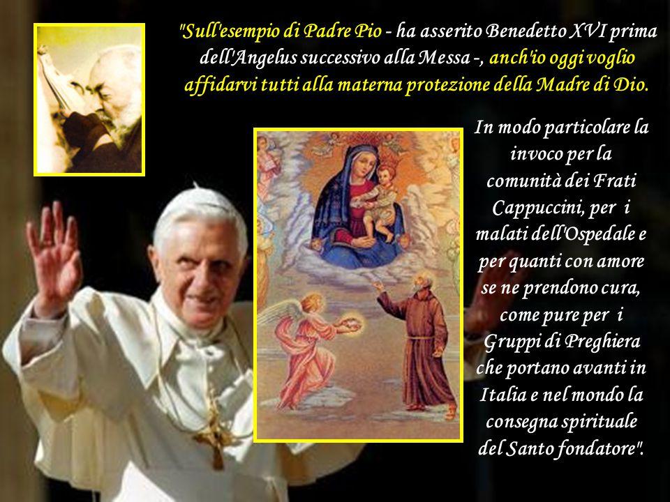 A San Giovanni Rotondo, per la visita del Papa, c'erano anche i genitori di due ragazze che hanno perso la vita nel terremoto del 6 aprile all'Aquila.