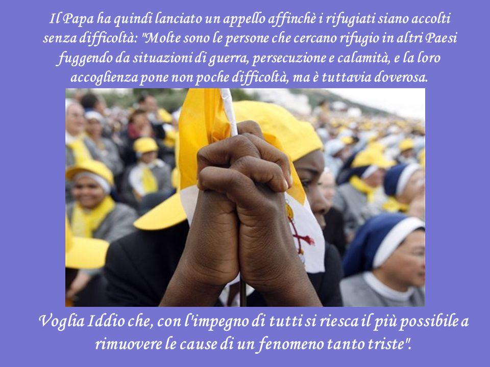 Sull esempio di Padre Pio - ha asserito Benedetto XVI prima dell Angelus successivo alla Messa -, anch io oggi voglio affidarvi tutti alla materna protezione della Madre di Dio.