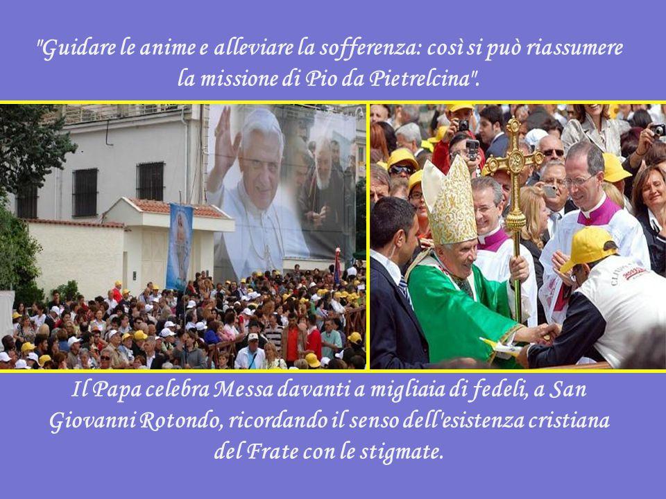 """Tra le altre cose, il Papa ha detto: """"Le stigmate lo unirono intimamente a Cristo crocifisso e risorto, come già era avvenuto a San Francesco d'Assisi"""