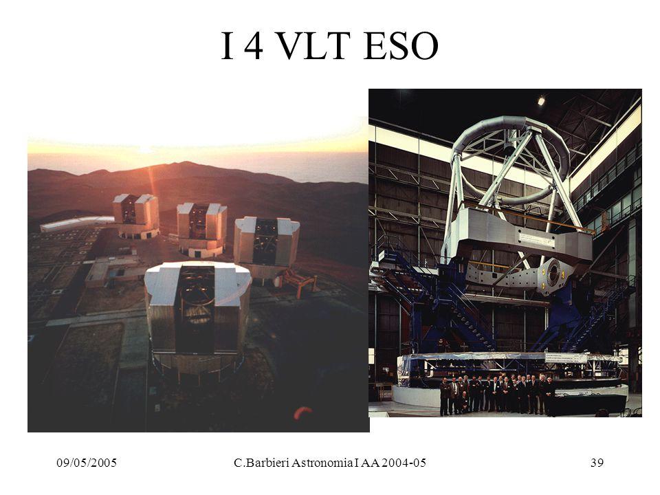 09/05/2005C.Barbieri Astronomia I AA 2004-0539 I 4 VLT ESO
