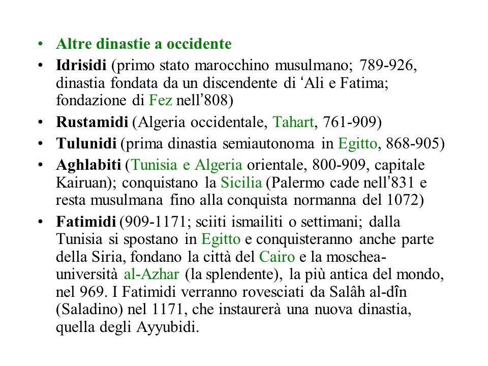 LA DISGREGAZIONE DEL MONDO MUSULMANO: IL SISTEMA STATALE POSTABBASIDE Durante il lungo declino del califfato abbaside (secc. X- XIII) non è più possib