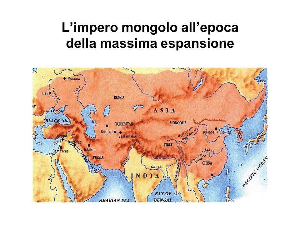 I Mongoli completano l'epoca di migrazioni colossali iniziata con l'XI secolo, modificando per sempre la composizione etnica delle zone conquistate. I