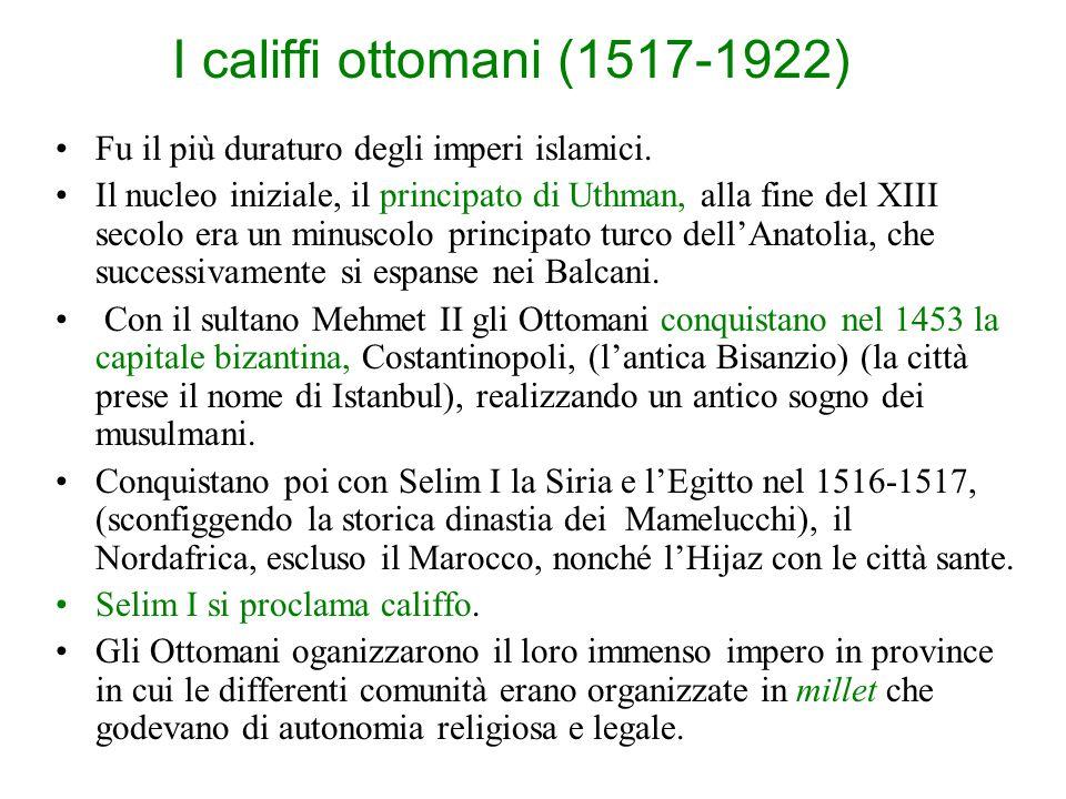L'epoca degli imperi sovranazionali Dopo la caduta dell'impero abbaside e la fine del califfato, che vede il mondo musulmano frammentarsi in decine di