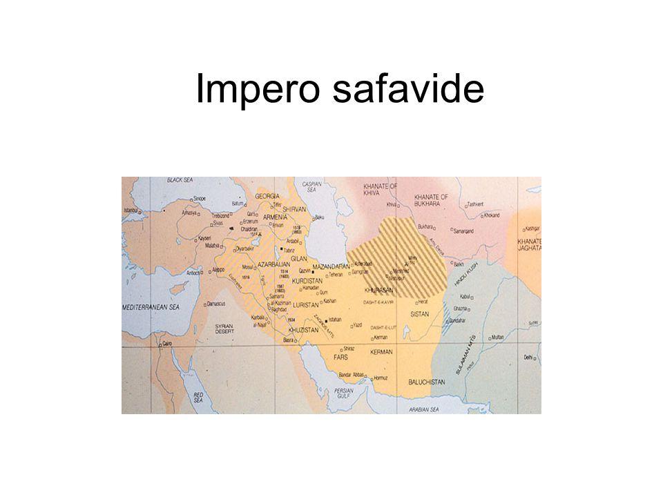 L'impero safavide (1501-1722) Nel 1501 la dinastia ha origine da un ordine sufi con l ' aiuto del quale viene conquistato dapprima l ' Azerbaigian fin